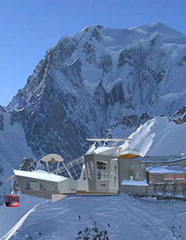 A proposed ski station in the Alps