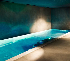 Ski chalets with indoor swimming pools