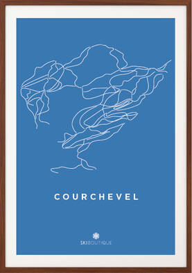 SkiBoutique Ski Poster Courchevel Piste Map