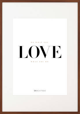 SkiBoutique Love Poster