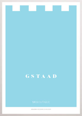 Gstaad Ski Poster - SkiBoutique