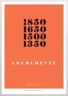 Courchevel Ski Poster - SkiBoutique