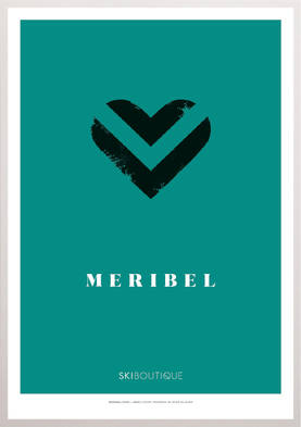 Méribel Ski Poster - SkiBoutique