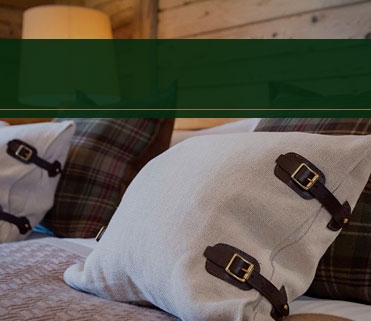Luxury catered ski chalet bedroom pillow