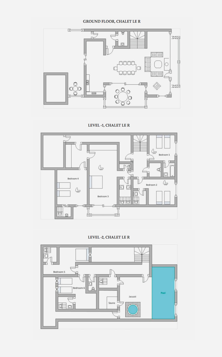Chalet le r in courchevel 1550 by skiboutique for French chalet house plans
