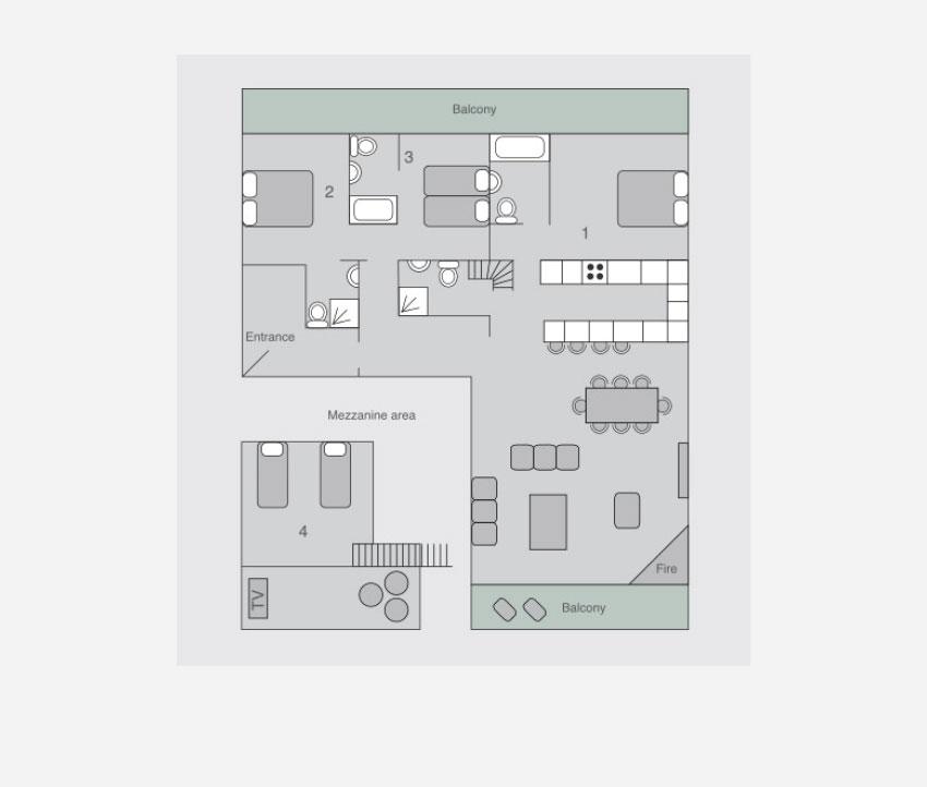 Chalet sophia in verbier by skiboutique for 1919 sophia floor plan