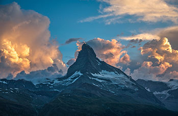 A stunning picture of the Matterhorn in Zermatt